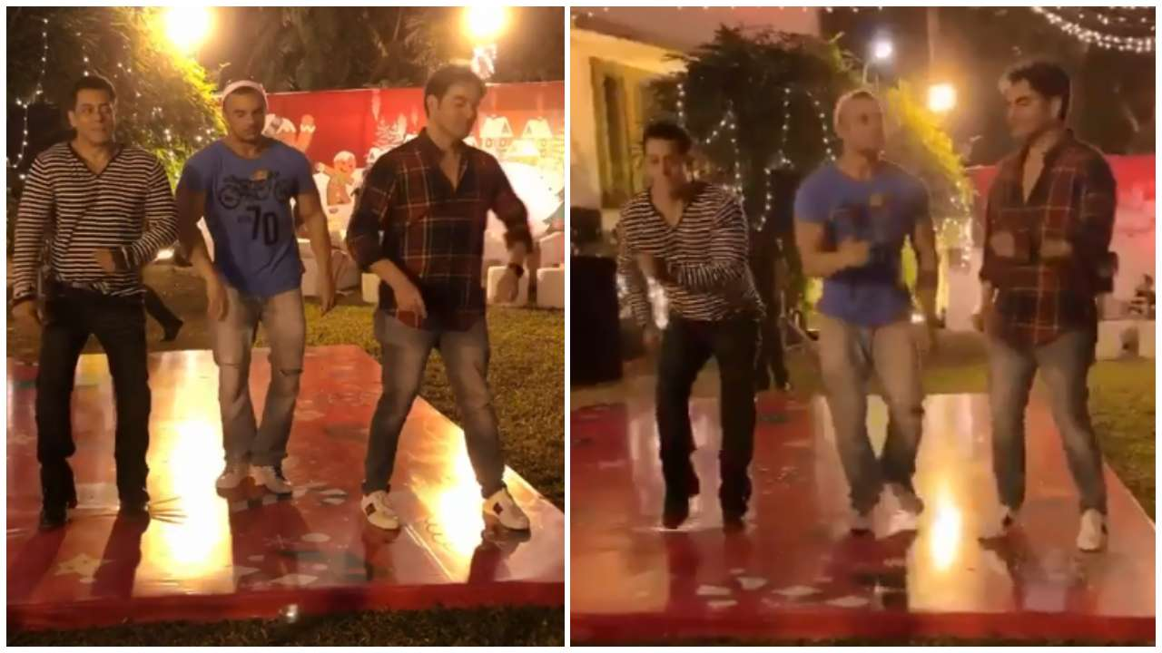 Photo of Salman Khan Dancing With Brothers, Sohail And Arbaaz on His Christmas Bash is Too Cute to Miss