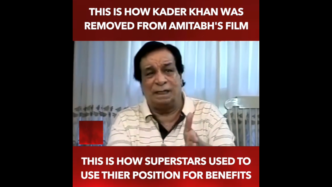 Photo of Kader Khan Reveals WHY Was Removed From Amitabh Bachchan's Film