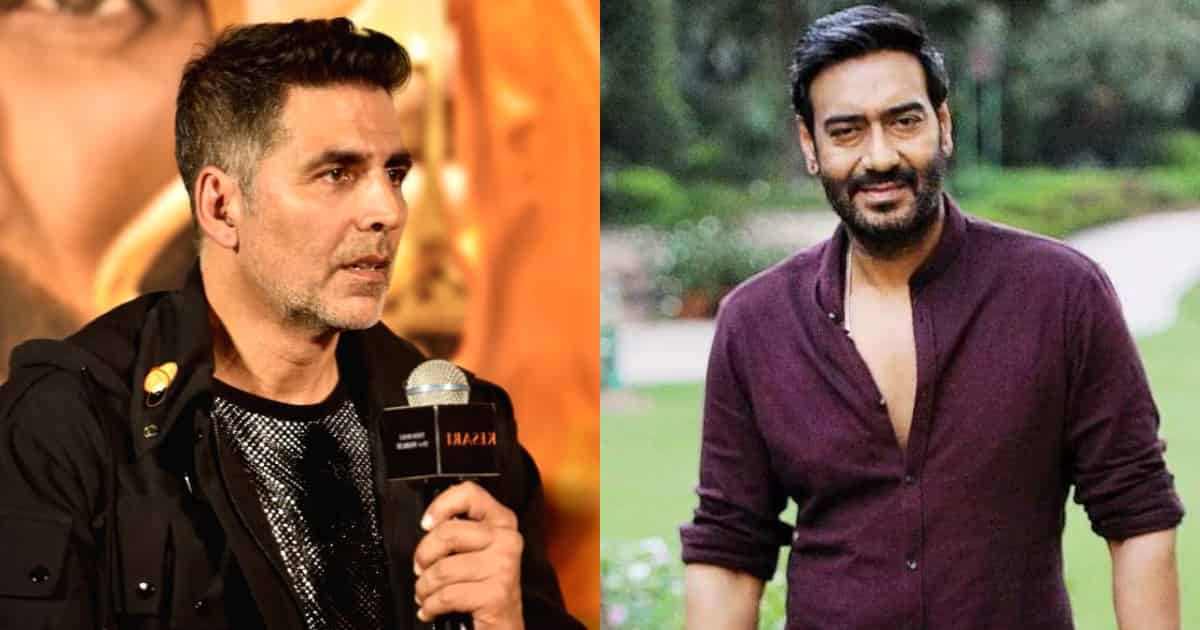 Photo of Akshay Kumar Makes Fun of a Reporter For Asking a Stupid Question Regarding Ajay Devgn