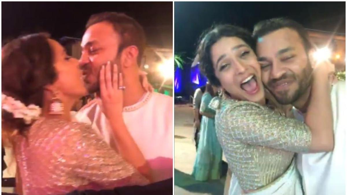 Photo of Manikarnika Actor Ankita Lokhande Spotted Kissing Boyfriend Vicky Jain, Watch Video
