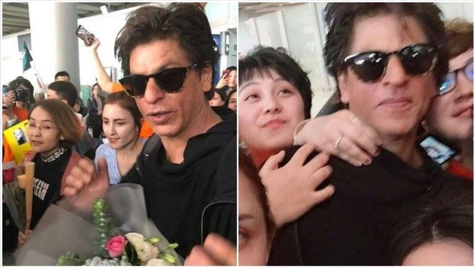 Photo of Shah Rukh Khan Gets Mobbed in China at 'Zero' Screening