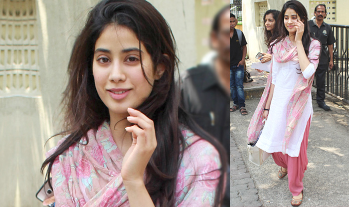 Photo of Janhvi Kapoor Snapped in Traditional Avatar on The Sets of Her Upcoming Movie 'Roohi Afza'