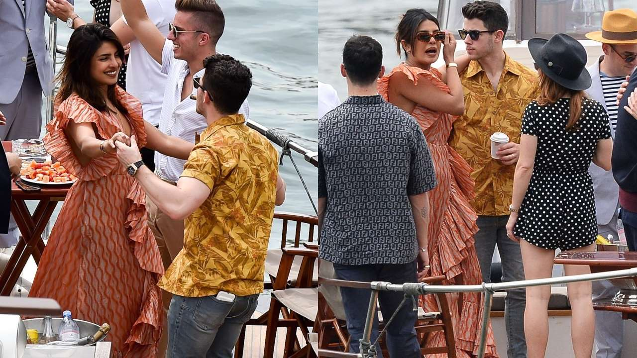 Photo of Nick Jonas Saves Priyanka Chopra From Slipping Off The Yacht 'In The Nick of Time'