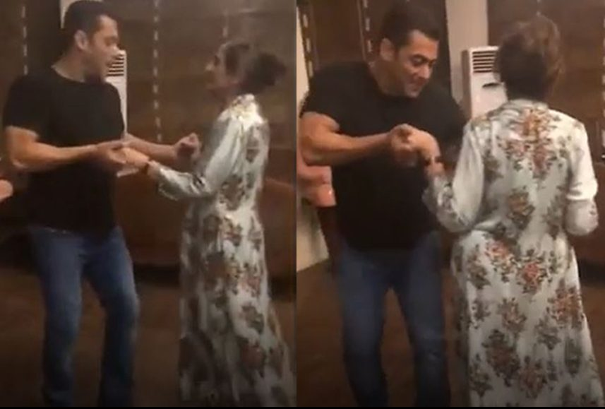 Salma And Salman Khan Make For A Cute Mother-Son Duo Dancing On 'Cheap Thrills' Song