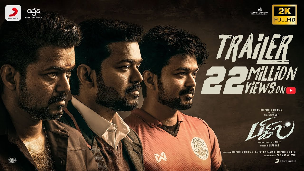 Photo of 'Bigil' Trailer: Vijay's Flick On Football & Women Empowerment Is A Triple Treat