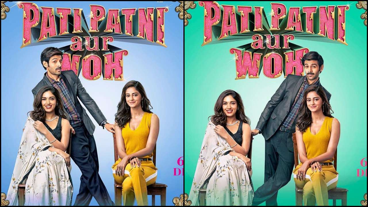 Photo of See Kartik Aaryan's Quirky Side In 'Pati Patni Aur Woh' Posters With Bhumi Pednekar & Ananya Panday On-Board