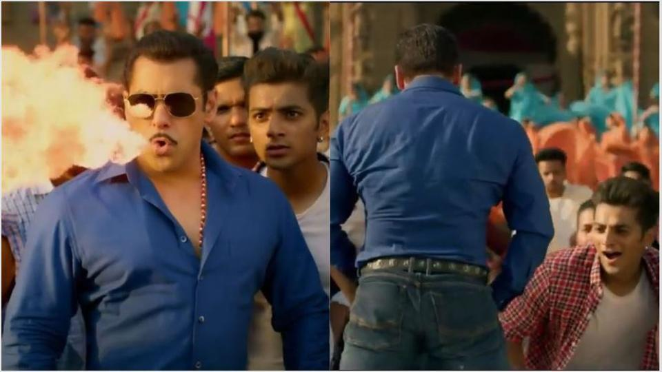 Photo of Salman Khan Introduces New Hook Steps In His Trademark Dabangg Series Song: 'Hud Hud'