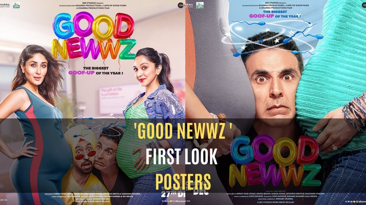Photo of Akshay Kumar & Diljit Dosanjh Are Squeezed Between Pregnant Kareena Kapoor Khan & Kiara Advani In These 'Good Newwz' Quirky Posters