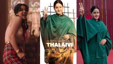 Photo of Kangana Ranaut Gives A Powerful Statement With Her 1st Look In Jayalalithaa Biopic: 'Thalaivi'