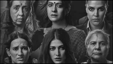 Photo of Kajol, Shruti Haasan & Neha Dhupia Present 'Unusual Sisterhood' In 'Devi' Poster