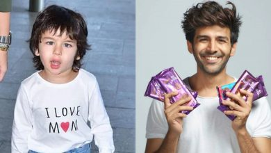 Photo of Kartik Aaryan Forgot to Take a Selfie With Taimur Ali Khan on Their Very 1st Encounter