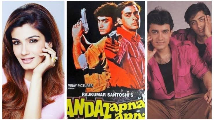 Photo of Raveena Tandon Gives An Insight Into Andaz Apna Apna Shooting Days: Salman & Aamir Khan Were Not On Talking Terms