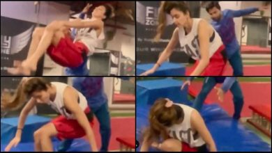 Photo of Disha Patani Screams 'Never-Give-Up' Minus Words Whilst Performing Front Flip With Injured Knee