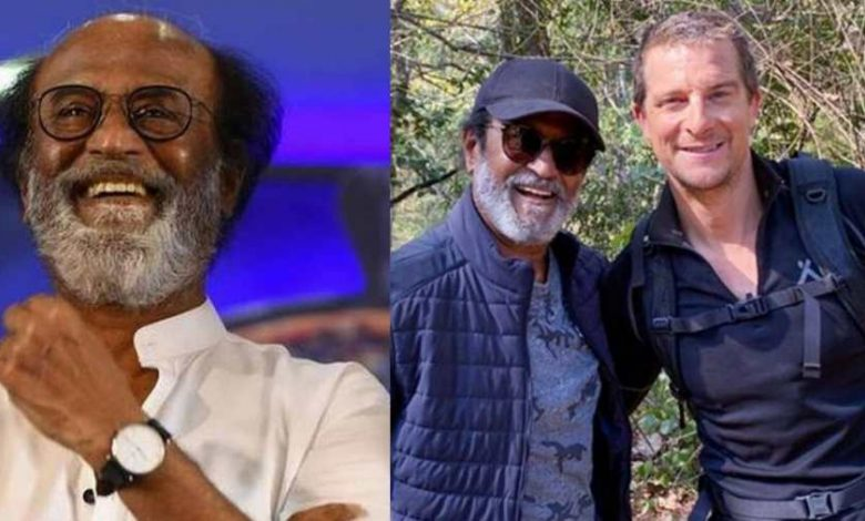 Bear Grylls Launches 'Star With A Swagger' Rajinikanth On Small Screen