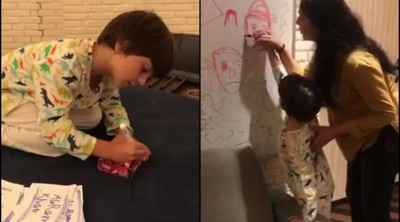 Have A Look At Shah Rukh Khan's Youngest One AbRam's Artistic Side In These Videos