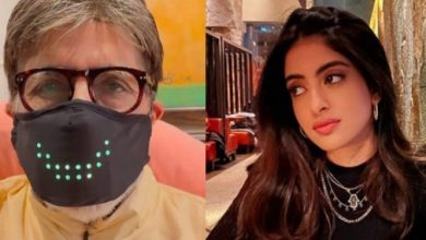 Photo of This Is How Big B's Granddaughter Navya Naveli Nanda Reacted On His High-Tech Mask